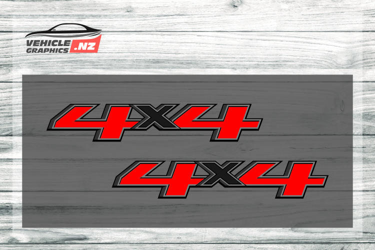 Red Black 4x4 Decal 35024