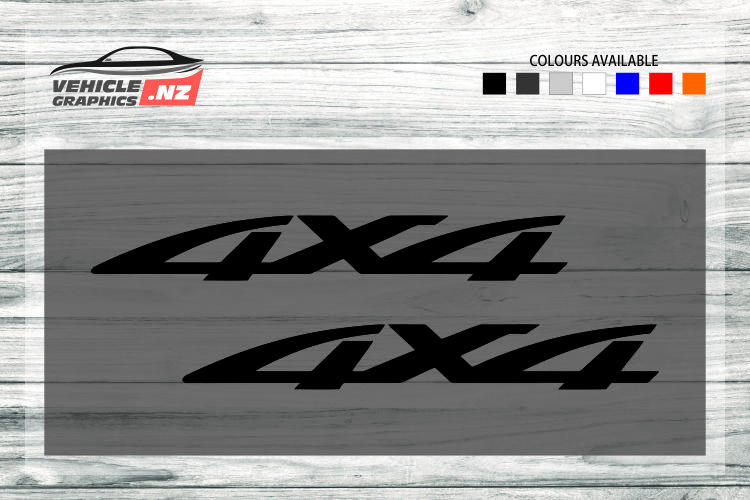 4x4 Generic Vehicle Decals 35025
