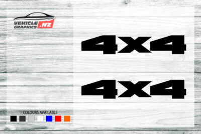 4x4 Decals For Generic Cars 35037
