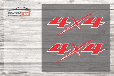 Isuzu D-Max Ute 4x4 Decals 35039-W