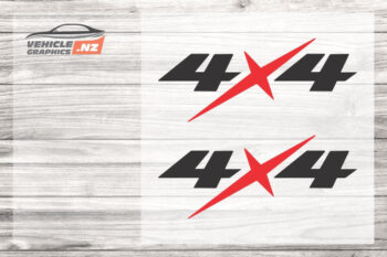 Isuzu 4x4 Decals 35040 Red Black