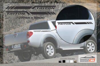 Mitsubishi Triton Side Bed Stripe Decals