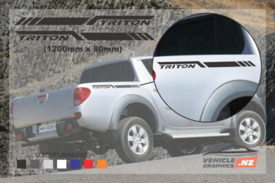 Mitsubishi Triton Side Bed Stripe Decals