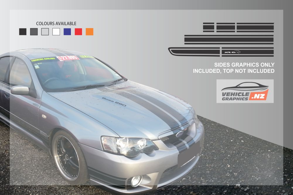 Ford Falcon XR6 BA BF Side Stripes Kit