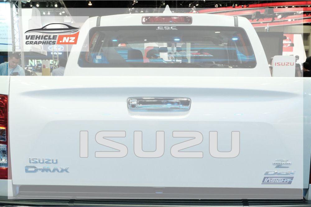 Isuzu Tailgate Lettering Decal