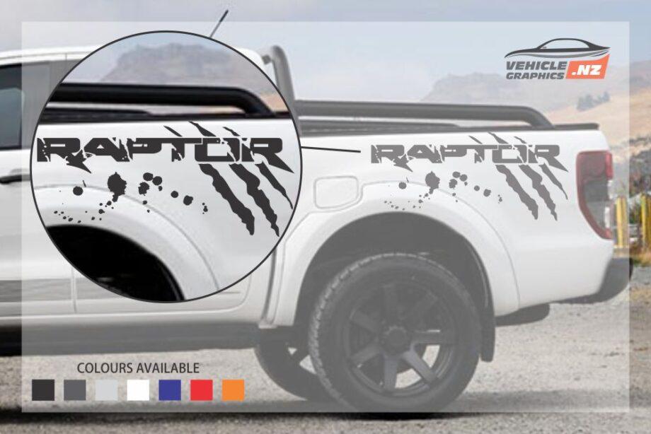 Ford Ranger Raptor Side Bed Fancy Lettering