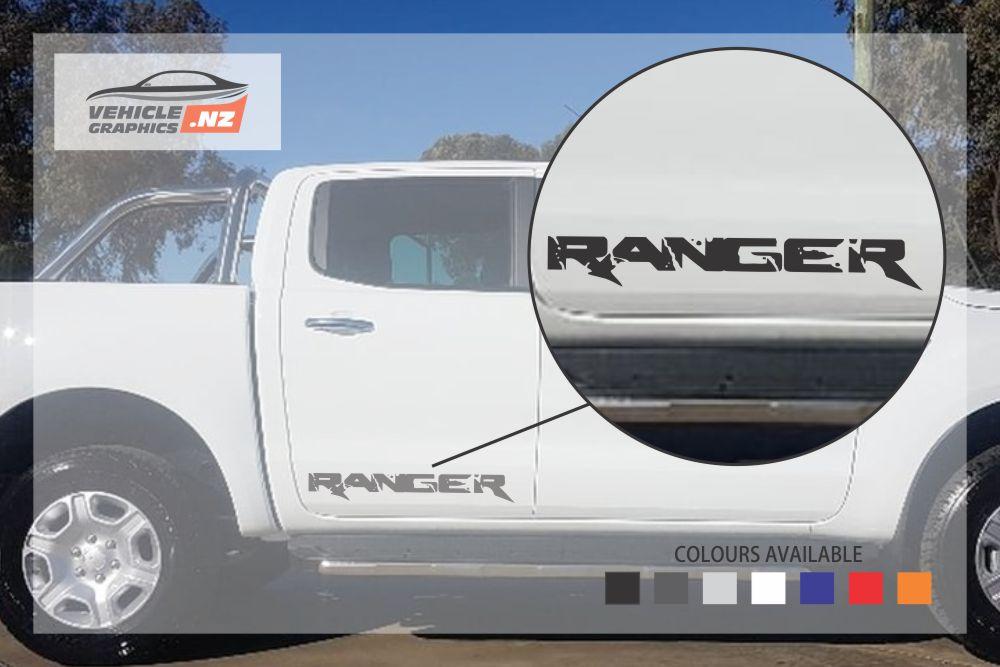 Ford Ranger Side Door Lettering Decal