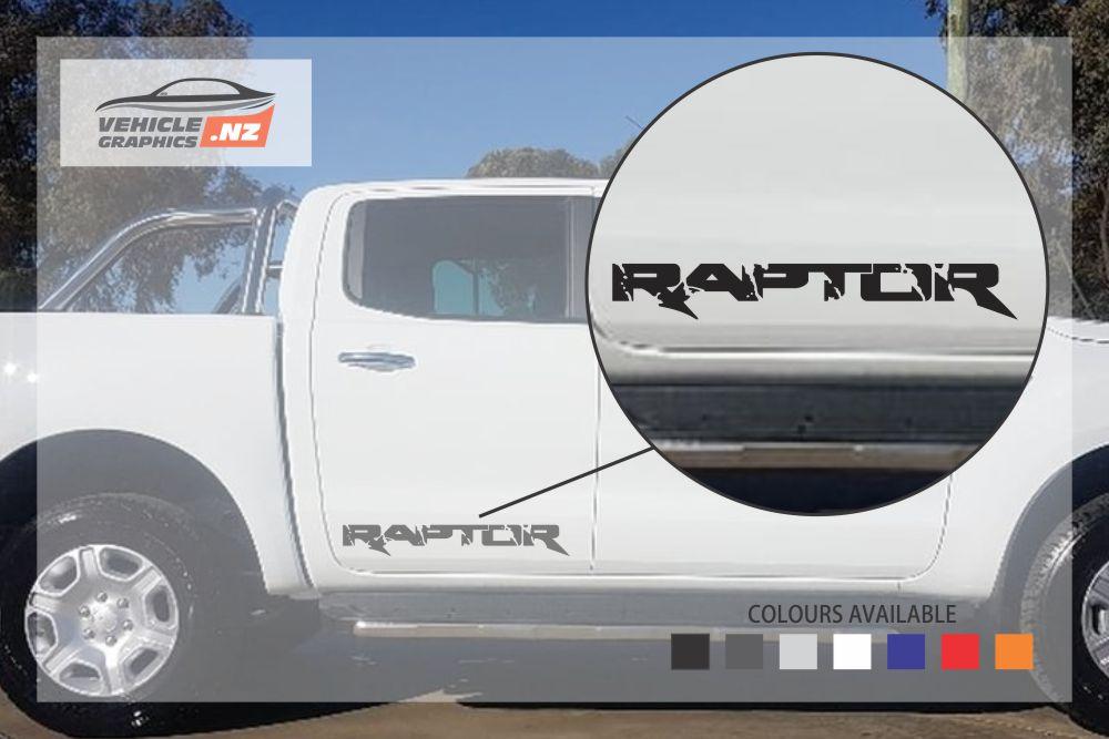 Ford Ranger Raptor Side Door Lettering Decal