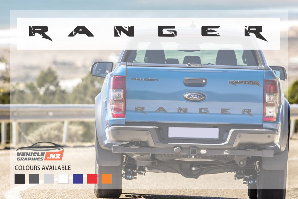 Ford Ranger Tailgate Stylish Lettering Decal