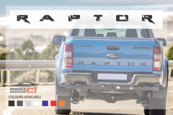 Ford Ranger Raptor Tailgate Stylish Lettering Decal