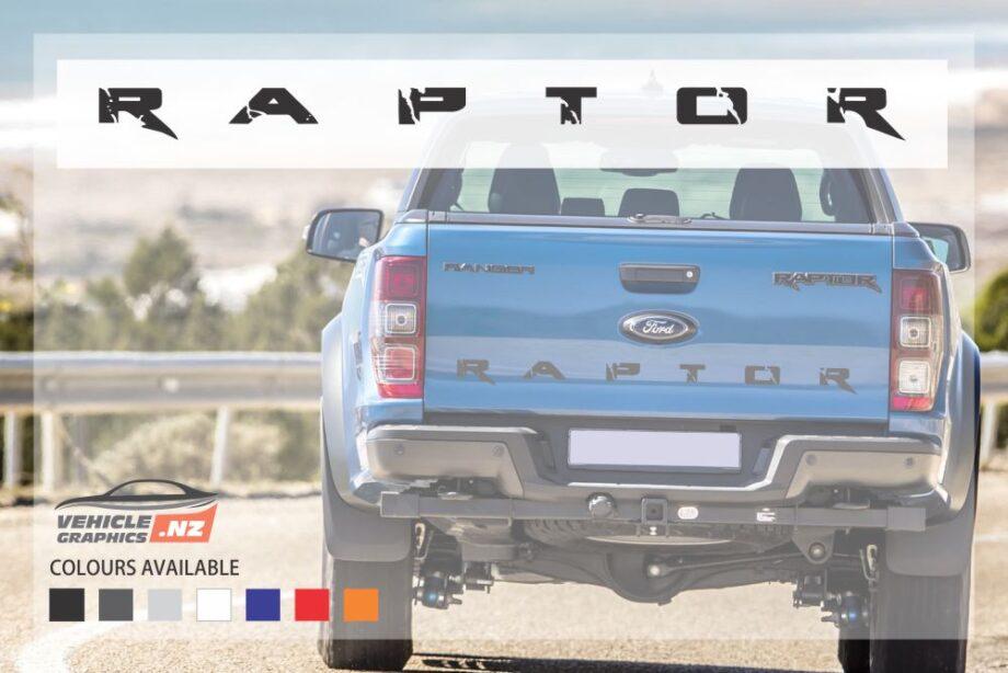 Ford Ranger Raptor Tailgate Stylish Lettering Decal