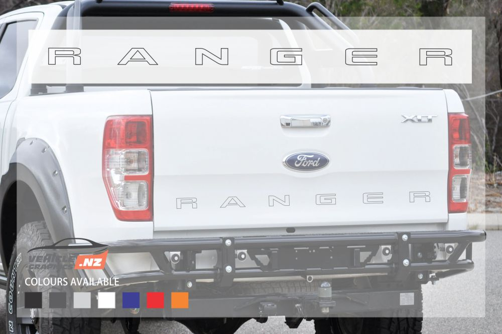 Ford Ranger Tailgate Outline Decal
