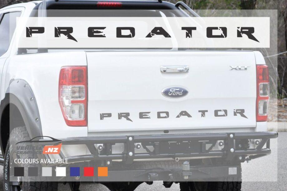Ford Ranger Tailgate Predator Decal