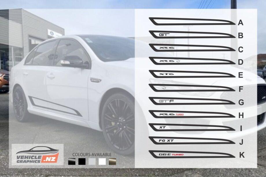 Ford Falcon FGX Side Stripes