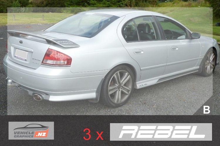 Ford Falcon XR6 Rebel Decal
