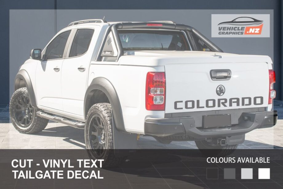 Holden Colorado Tailgate Lettering Decal