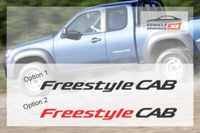 Mazda Straight Freestyle Cab Stickers