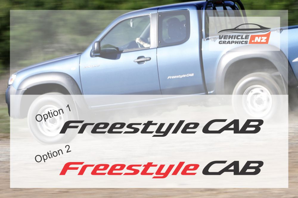 Mazda Straight Freestyle Cab Stickers
