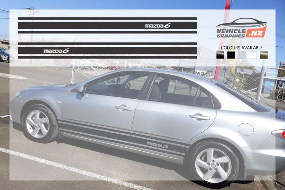 Mazda 6 Side Stripes Decals