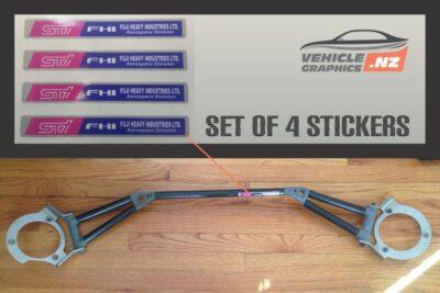 Subaru STI Strut Brace Decals
