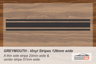 GREYMOUTH Vinyl Stripe Kit for Cars, Utes and Trucks