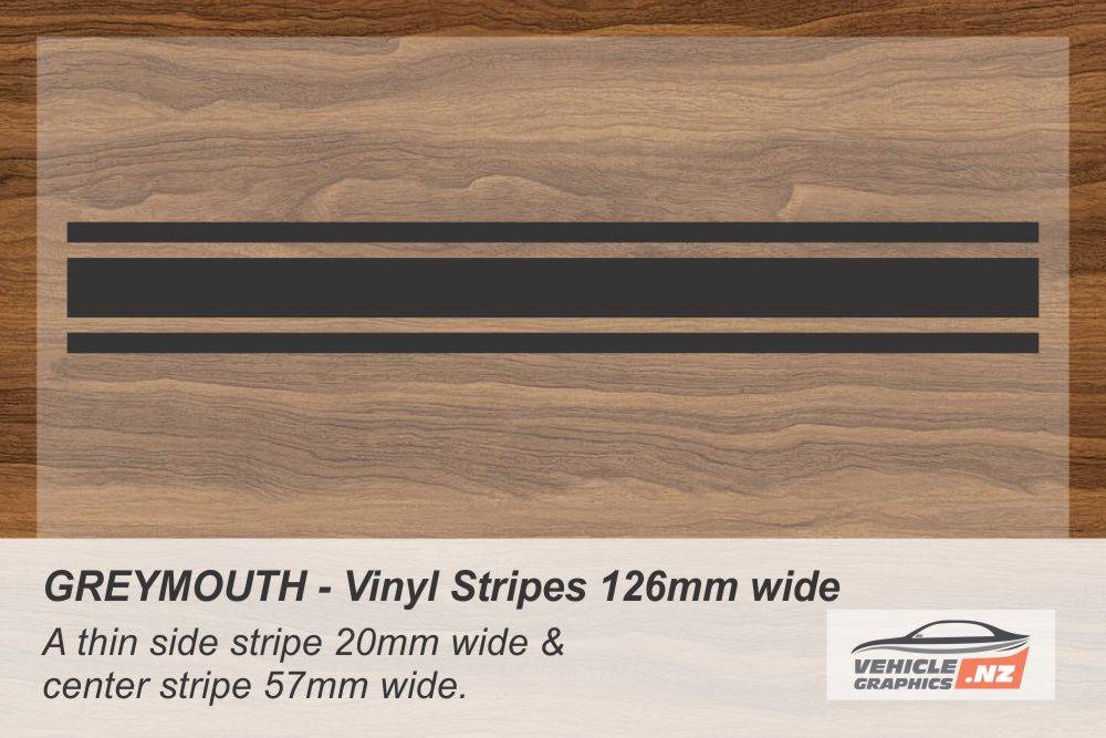 GREYMOUTH Vinyl Stripe Kit for Cars, Utes and Trucks