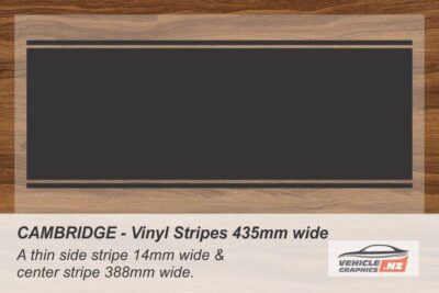 CAMBRIDGE Vinyl Stripe Kit for Cars, Utes and Trucks