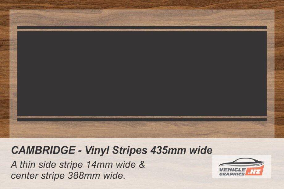 CAMBRIDGE Vinyl Stripe Kit for Cars, Utes and Trucks