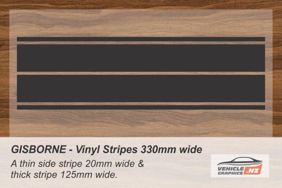 GISBORNE Vinyl Stripe Kit for Cars, Utes and Trucks