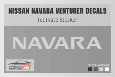 Nissan Venturer Navara Cut Lettering Decal