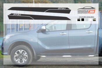 Mazda BT-50 Side Stripes Decals