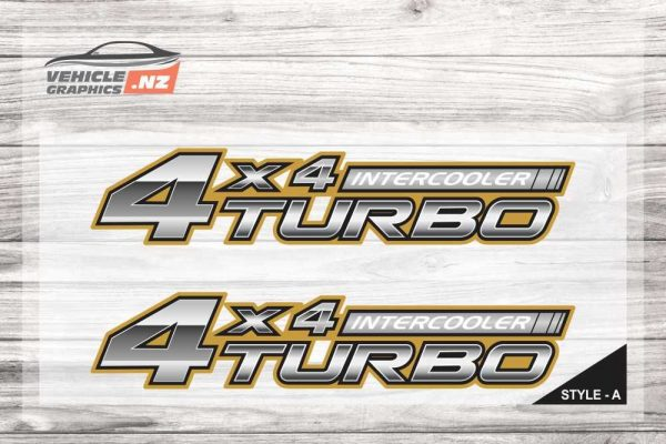 Aftermarket Toyota 4x4 Intercooler Turbo Decal