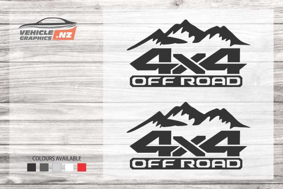 Mountain 4x4 Off Road Decals