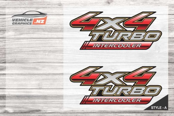 Aftermarket Toyota 4x4 Turbo Intercooler Decal