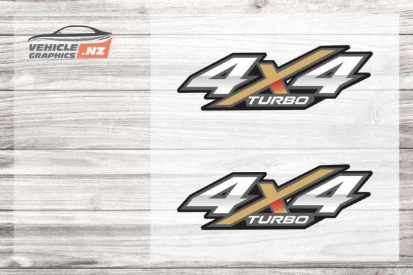 4x4 Turbo Decals