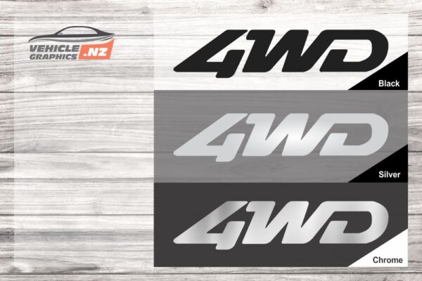4WD Domed Resin Badge Decal