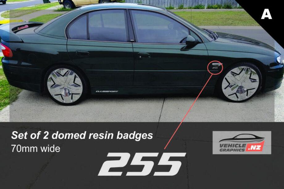 HSV 255 KW Front Indicator Badge