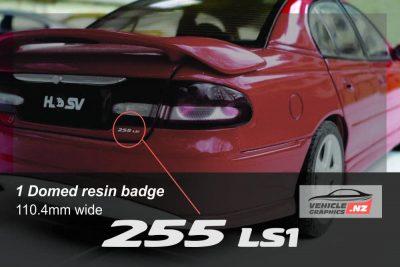 Holden HSV 255 LS1 Boot Lid Badge