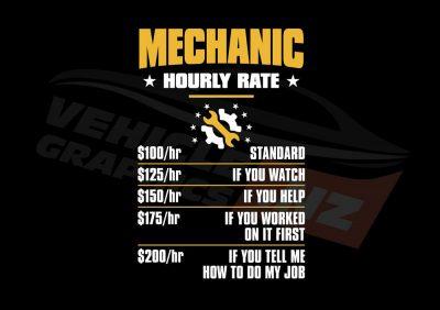 Mechanic Hourly Rate T-Shirt
