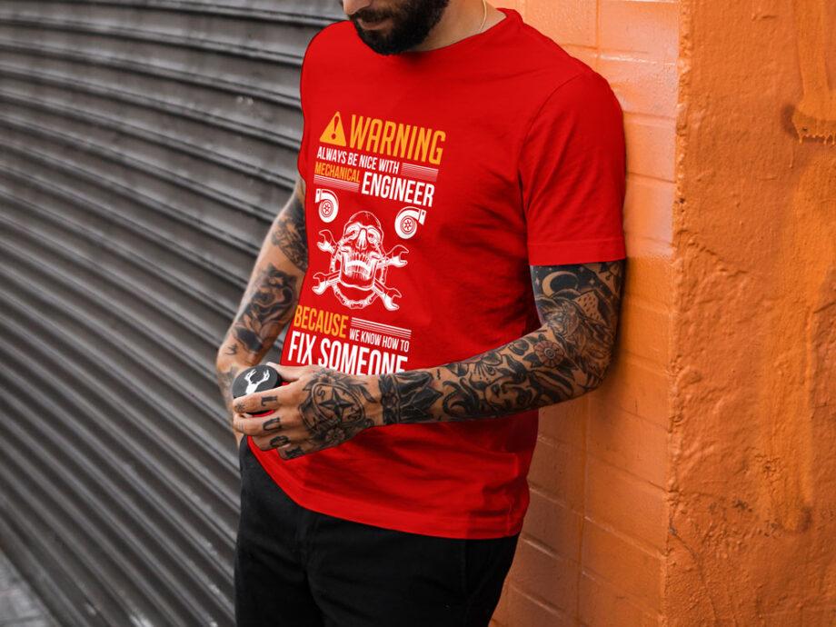 Warning Mechanical Engineer T-Shirt