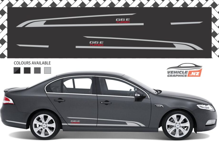 Ford Falcon G6E TURBO Side Stripes