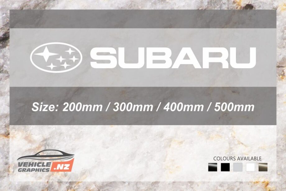 Subaru Logo Cut Lettering Decal