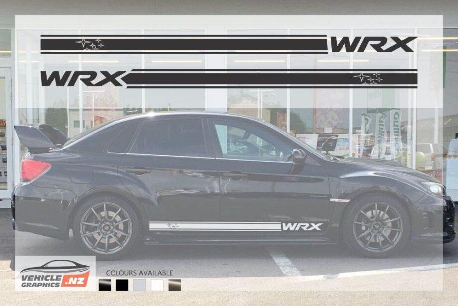 Subaru WRX Stars Side Stripes Decals