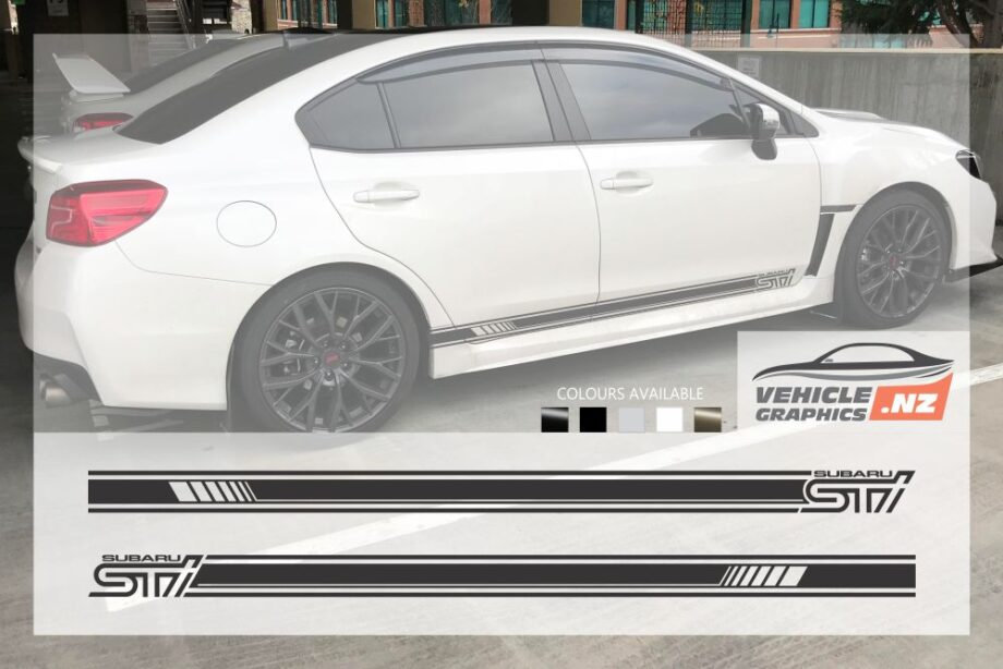 Subaru STI Side Stripes Decals