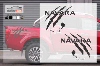 Nissan Navara Fancy Side Bed Decals