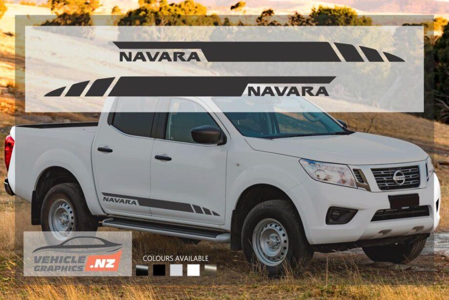 Nissan Navara Side Stripes Decals