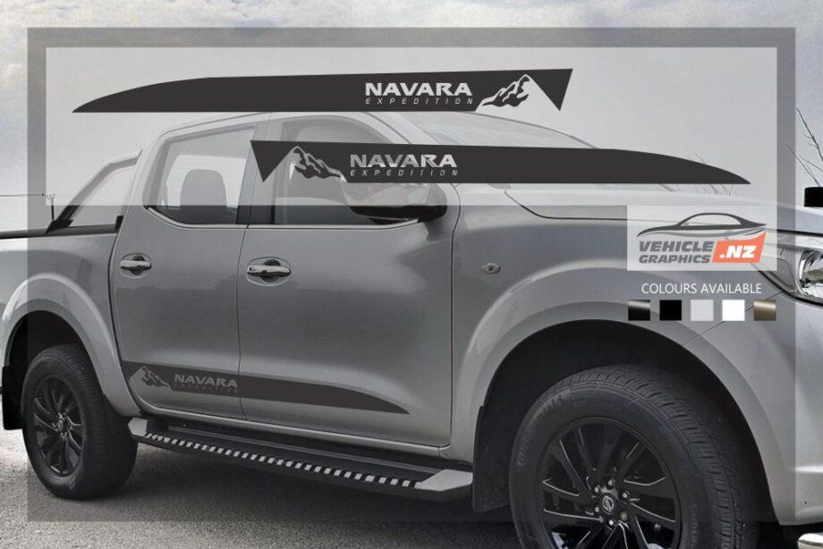 Nissan Navara Mountain Side Stripes Decals