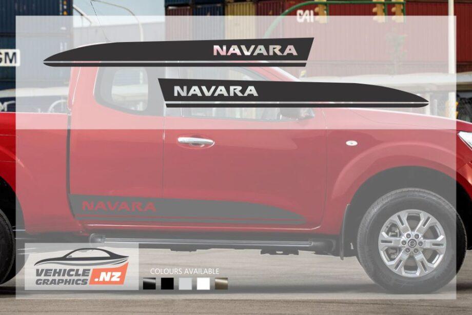 Nissan Navara Text Side Stripes