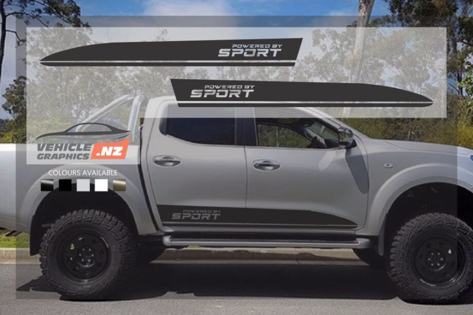 Nissan Navara Sports Side Stripes Decals