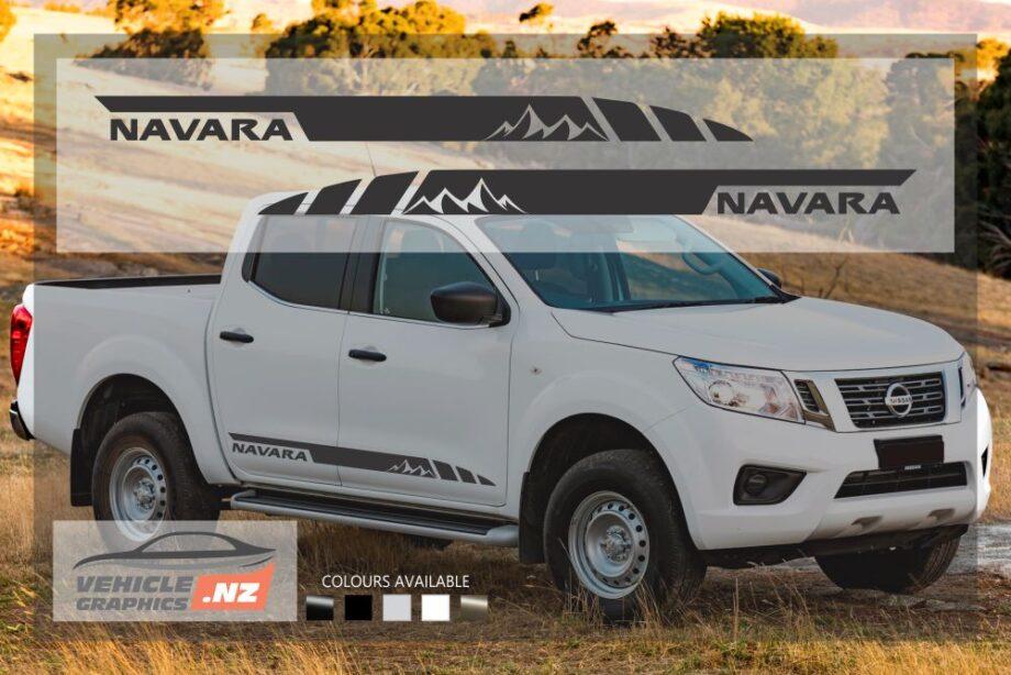 Nissan Navara Hills Side Stripes Decals
